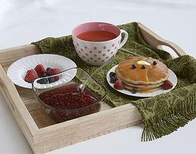 3D Breakfast in bed tea