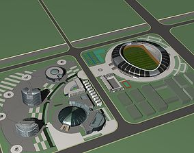 Soccer Stadium 006 3D model