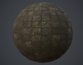 Stone Floor PBR Tile Material 3D asset