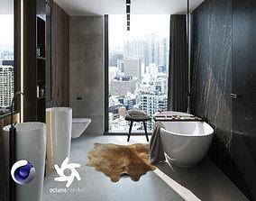 Bathroom Interior Scene for Cinema 4D and Octane 3D model