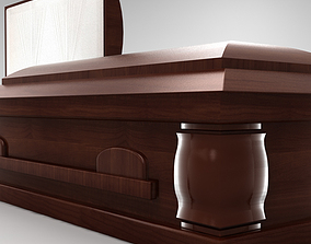 3D High Def All Wood BoxCoffin