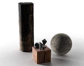 Decorative Objects Set 3D