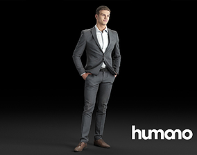 3D model Humano Elegant Business Man Standing and smiling