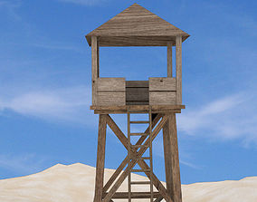 Watch tower - low poly 3D model low-poly