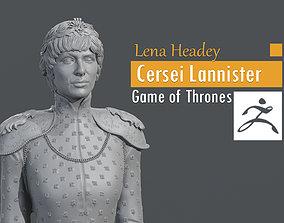 3D print model Lena Headey - Cersei Lannister - Game of