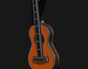 3D printable model Guitar pendant with enamel