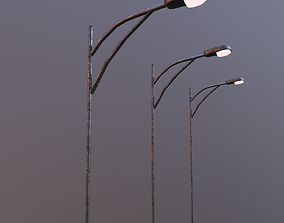 3D model Low Poly Streetlight with single bulb