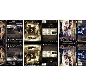 3D model LOTR DVD Cases