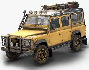 Land Rover Defender 110 Low Poly 3D asset