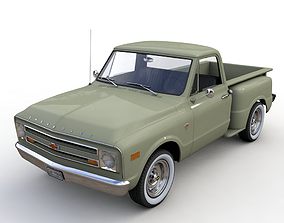 CHEVY C10 PICKUP STEPSIDE TRUCK 1968 3D model