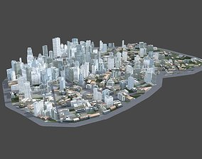 City Scene 3D asset