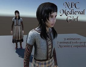 NPC Medieval Girl 3D model