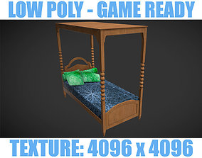 Low poly Bed 3 3D model