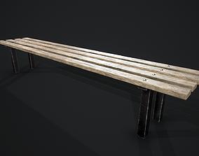 3D model realtime Locker Room Bench - Game Ready