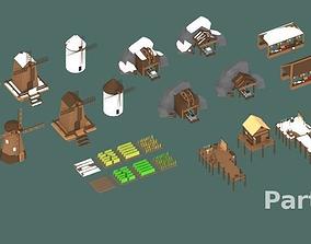 3D asset Low Poly Medieval Buildings Part 2