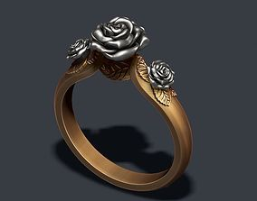 3D printable model march Rose ring