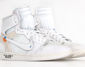sneaks Jordan 1 Retro High Off-white 3DScan