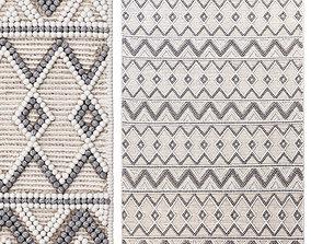 3D model Pirlo Boho Farmhouse Wool Area Rug fabric