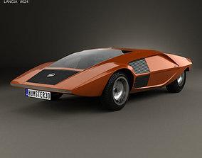 Lancia Stratos Zero 1970 3D