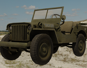 Willys Jeep 3D model VR / AR ready