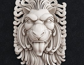 3D printable model Lion head Decor