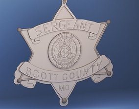 Scott County Police Badge 3D print model
