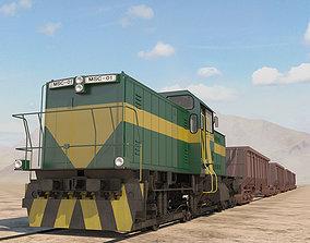 3D Train with hopper car