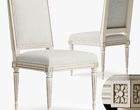 3D model Chair Louis XVI B