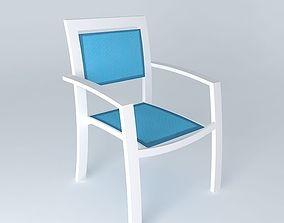 Turquoise armchair HAWAII 3D