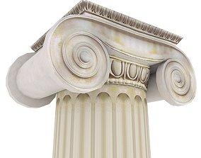 3D Roman Ionic Piller Low Poly