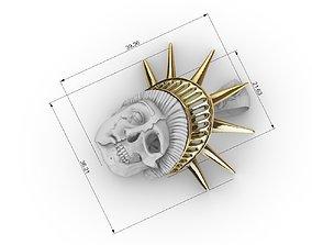 liberty statue skull pendant 3D print model america