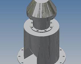 Tank or Silo Breather Valve 3D model