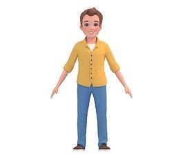 Cartoon Cute Father Man 3D model