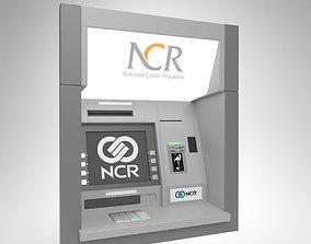 3D model NCR ThroughWall ATM Machine 5887 Blender Cycles