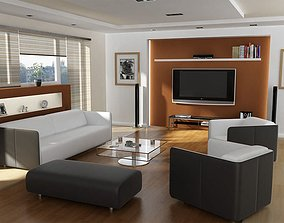 Modern Living Room 3D model room