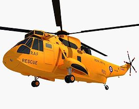 navy Westland Sea King Helicopter 3D model