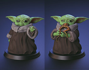 3D printable model Baby Yoda - Using The Force and 4