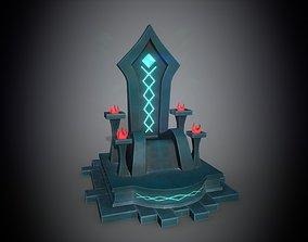 Throne 3D asset