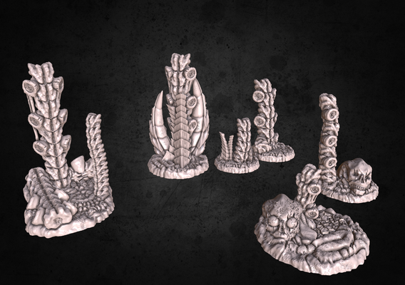 Updated alien terrain models