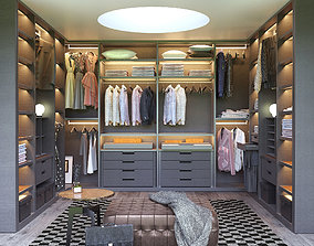 Poliform SENZAFINE walk-in closet 3D poliform
