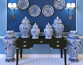 3D model Eichholtz Vases Glamour Peninsula Desk St 2