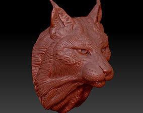 3D print model head lynx