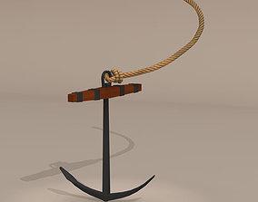 3D model Sailing vessel anchor