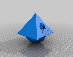 3D printable model Piramid Birdhouse