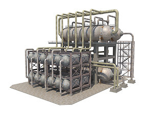 3D asset Industrial Oil Refinery 1