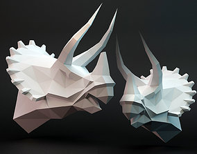 3D asset VR / AR ready Triceratops