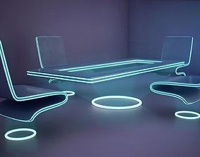 3D model futuristic office furniture