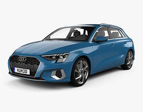 3D model Audi A3 sportback 2020