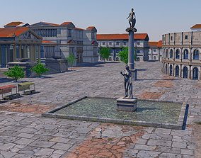 3D model Classic romanic city