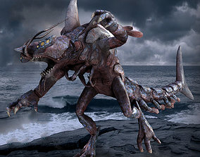 Shark Lobster Monster 3D asset